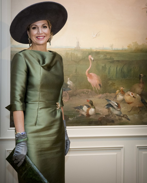 Queen Maxima Leather Gloves [clothing,lady,fashion,dress,headgear,fashion design,textile,visual arts,hat,vintage clothing,maxima,maxima of the netherlands,queen,wallpaper,imagination,nature,nederlands,palace,a royal paradise exhibition in dordrecht museum,exhibition]