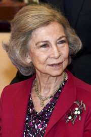 Queen Sofia kept it classic with this bob while attending a meeting at Reina Sofia School of Music.