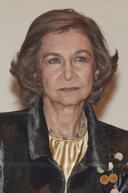 Queen Sofia sported a flippy bob at the Painting and Sculpture Awards in Madrid.