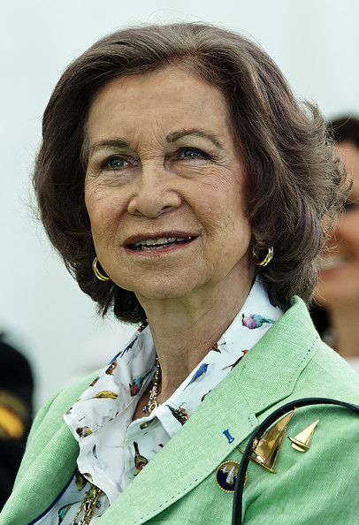 Queen Sofia Bob [smile,uniform,queen,presentation,sofia,spain,headquarters,valencia,spanish paralympic sailing team,iberdrola,spain attends the presentation]