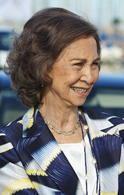 Queen Sofia attended the XVI Trofeo SM La Reina ceremony wearing this curly bob.