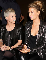 Ruby Rose styled her hair in a short cute pixie cut for the Ellery catwalk event.