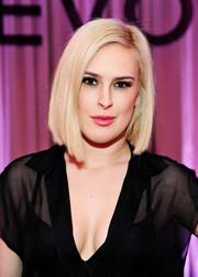 Rumer Willis sported a sleek and modern angled bob during the Revolve Pop-Up launch.