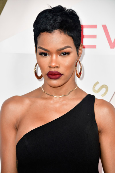 Teyana Taylor rocked a cute pixie at the #REVOLVEawards.