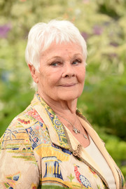 Judi Dench sported her signature silver pixie at the RHS Chelsea Flower Show 2019.