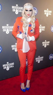 Kesha was ultra-patriotic in this star-spangled blazer at the inaugural benefit.