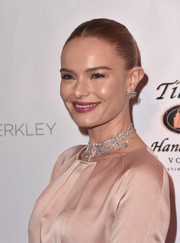 Kate Bosworth amped up the luxe factor with a diamond statement necklace, also by Beladora.