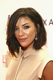 Jessica Szohr looked stylish with her textured lob at the Race to Erase MS Gala.