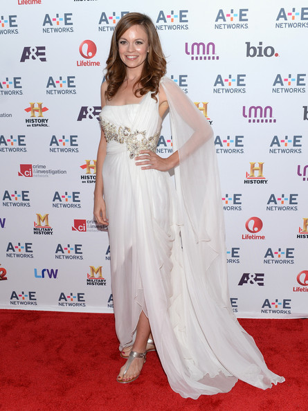 Rachel Boston Empire Gown [witches of east end,gown,flooring,carpet,shoulder,beauty,lady,fashion model,hairstyle,joint,dress,rachel boston,arrivals,new york city,a e networks]