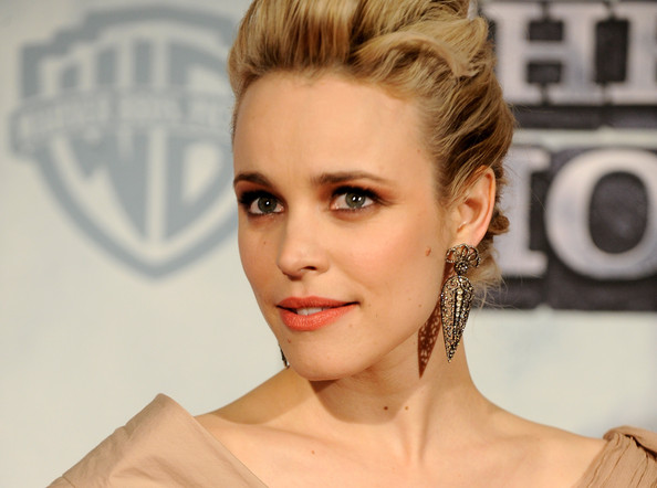 Rachel McAdams Dangling Gemstone Earrings
