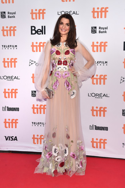 Rachel Weisz Embroidered Dress