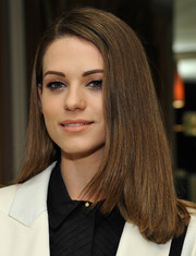 Lyndsy Fonseca opted for a sleek straight 'do with a side part when she attended the relaunch of 'The Zoe Report.'