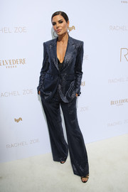 Lisa Rinna was sophisticated and smart in a sequined pantsuit by Rachel Zoe during the brand's Spring 2019 presentation.