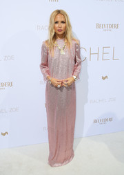Rachel Zoe looked simply chic in a beaded pink gown during her Spring 2019 presentation.