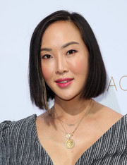 Chriselle Lim attended the Rachel Zoe Spring 2019 show wearing her hair in a classic bob.