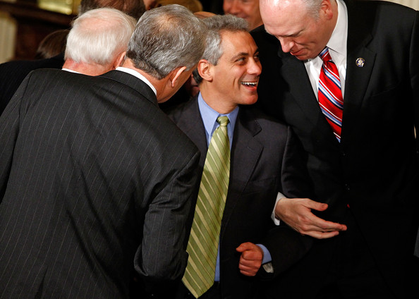 Rahm Emanuel Striped Tie