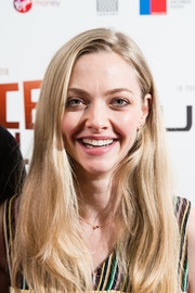 Amanda Seyfried wore her hair down in a casual side-parted style at the world premiere of 'Holy Moses.'