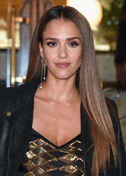 Jessica Alba paired her 'do with the Delfina Delettrez Fishing For Compliments earring.