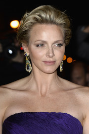Charlene Wittstock rocked a glamorous fauxhawk at the Ralph Lauren show.