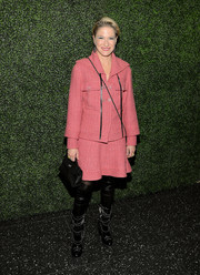 Julie Macklowe chose a classic pink tweed skirt suit for the screening of 'To Catch a Thief.'