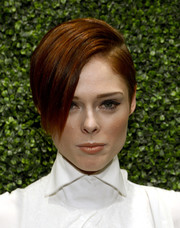 Coco Rocha styled her short locks in a dramatic side-parted 'do for the screening of 'To Catch a Thief' in NYC.