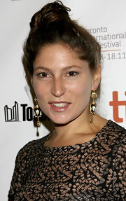 Stella Schnabel wore a pair of skull dangle earrings at the TIFF.