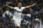 Cristiano Ronaldo of Real Madrid celebrates after scoring  during the La Liga match between Real Madrid and Athletic Bilbao at Estadio Santiago Bernabeu on November 20, 2010 in Madrid, Spain.