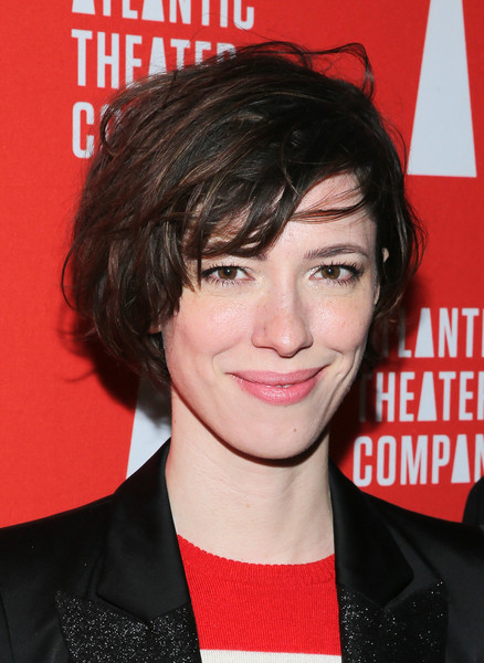 Rebecca Hall Messy Cut [hair,hairstyle,chin,forehead,bangs,premiere,black hair,magazine,layered hair,brown hair,rebecca hall,hold on to me darling,the dream downtown hotel,new york city,the gallery,party,opening night,party]