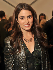 Nikki Reed wore her hair in big smooth waves during the Rebecca Minkoff fall 2012 fashion show.