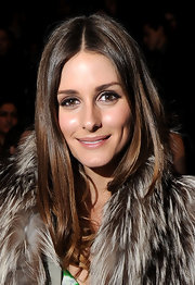 Olivia Palermo wore her sleek tresses down with a casual center part at the Rebecca Minkoff fall 2012 fashion show.