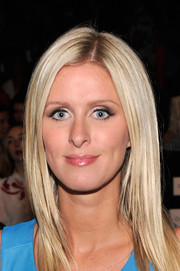 Nicky Hilton went for a smoldering beauty look with heavy eye makeup during the Rebecca Minkoff fashion show.
