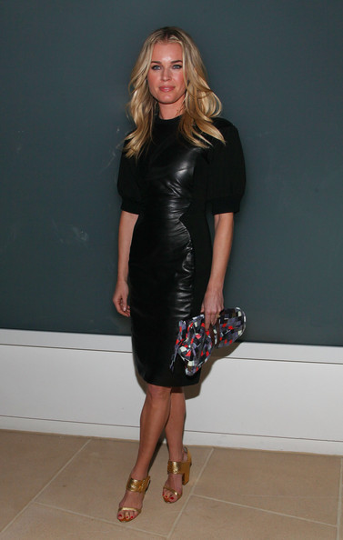 Rebecca Romijn Leather Dress