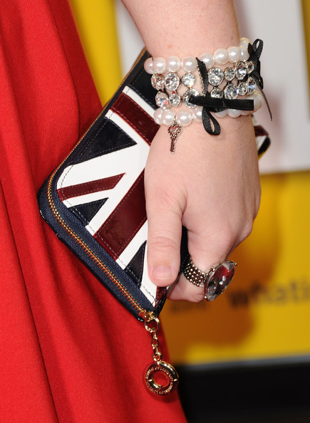 Rebel Wilson Pearl Bracelet [red,fashion,yellow,fashion accessory,hand,joint,arm,neck,lip,jewellery,arrivals,rebel wilson,paul,grauman,california,hollywood,chinese theater,universal pictures,premiere,premiere]