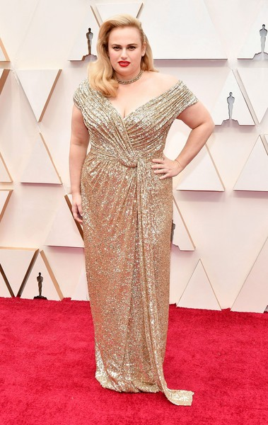 Rebel Wilson Off-the-Shoulder Dress