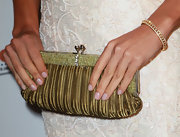 Danay Garcia showed off a gemstone embellished clutch, while hitting the red carpet.