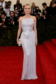 Diane Kruger was white-hot at the Met Gala in a fully sequined Hugo Boss gown that hugged her curves perfectly.
