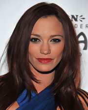 Jessica Sutta opted for red lips at the red carpet opening night of 'Jekyll & Hyde.'