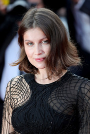 Laetitia Casta sported a bob with flippy ends at the Cannes Film Festival premiere of 'The Unknown Girl.'
