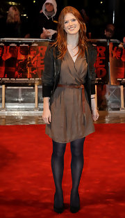 Rose Leslie's pumps were a prim and proper finish to her slightly edgy outfit.