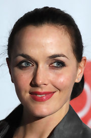 A swipe of red lipstick brightened up Victoria Pendleton's look at the Hot Women Awards.