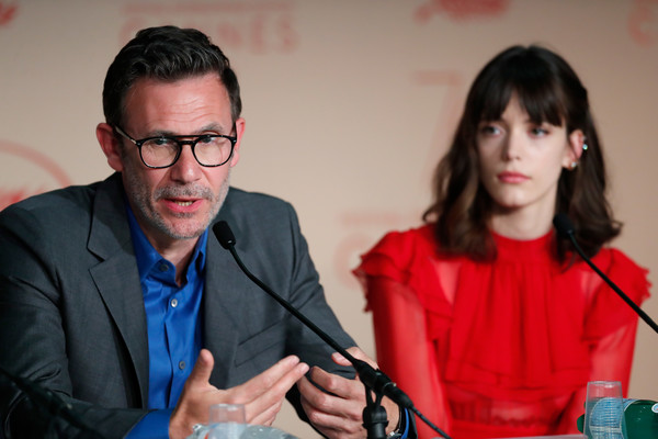 More Pics of Stacy Martin Medium Wavy Cut with Bangs (2 of 12) - Shoulder Length Hairstyles Lookbook - StyleBistro [conversation,eyewear,event,glasses,vision care,michel hazanavicius,stacy martin,r,redoubtable le redoutable,cannes,france,press conference,cannes film festival,palais des festivals]