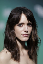 Stacy Martin showed off a sweet wavy hairstyle with parted bangs at the BFI London Film Festival premiere of 'Redoubtable.'