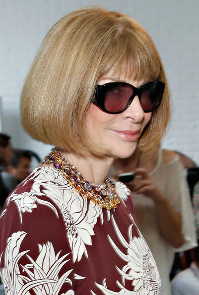 More Pics of Anna Wintour Bob (1 of 8) - Anna Wintour Lookbook - StyleBistro [hair,eyewear,hairstyle,blond,hair coloring,bangs,glasses,bob cut,layered hair,sunglasses,reed krakoff,anna wintour,front row,new york city,mercedes-benz fashion week,fashion show]