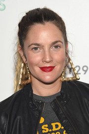 Drew Barrymore pulled her ombre locks back into a casual ponytail for the 29Rooms event.