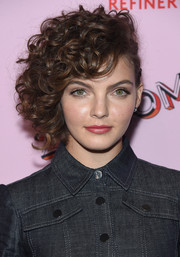 Camren Bicondova looked fab with her side-swept curls at the 29Rooms: Turn It Into Art event.