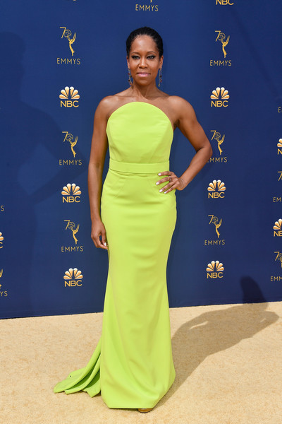 Regina King Strapless Dress