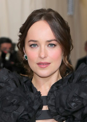 Dakota Johnson hit the 2017 Met Gala wearing a messy-sexy updo.