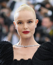 Kate Bosworth stayed classic with this slicked-back bun at the 2017 Met Gala.