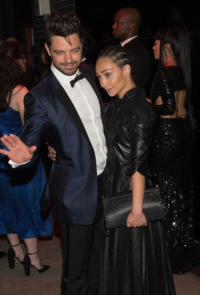 More Pics of Ruth Negga  Studded Clutch (1 of 3) - Ruth Negga  Lookbook - StyleBistro [rei kawakubo/comme des garcons: art of the in-between,event,fashion,suit,formal wear,dress,haute couture,outerwear,little black dress,premiere,fashion design,rei kawakubo,ruth negga,marc jacobs,dominic cooper,boom boom room,new york city,afterparty,parties,costume institute gala]