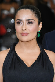 Salma Hayek brushed her hair back into a tight ponytail for the 2017 Met Gala.